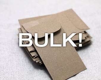 BULK! 100 Mini Kraft Seed Packet Envelopes - for Seed Packet Wedding Favors - Mini Envelopes - Favors Birthday - Baby Shower