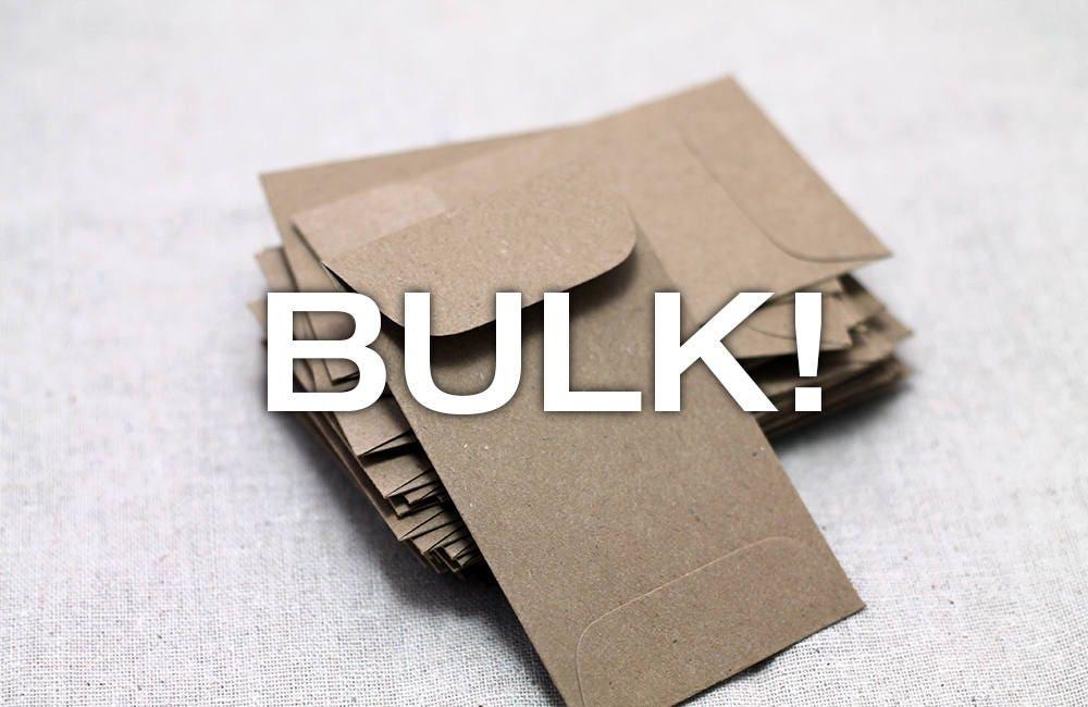 BULK 100 Mini Kraft Seed Packet Envelopes for Seed Packet