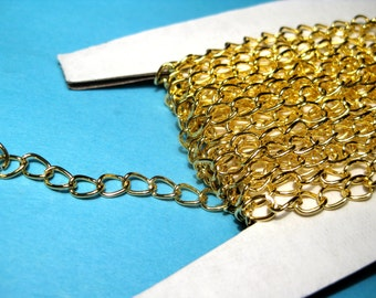 25Ft /Spool Gold Plated Curb Chains Link-Opened 5x3mm( No.731)(lo1)