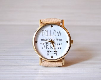 Graduation|gift|Womens|gift|Unique|Women watches|Arrow|Watch|Gift|for|her|College|graduation|Birthday gift|Quote watch|Inspirational|gift