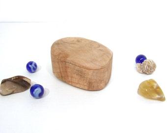 Oregon Coast Maple Wood Box, engagement ring box, ring bearer box, proposal box, earring box, small gift box, guitar pick box, Christmas