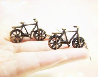 Vintage bicycle earrings