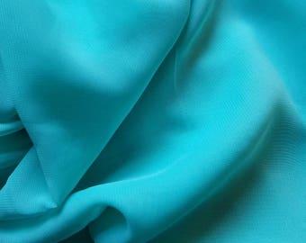 Turquoise Aqua Blue Chiffon Sheer Fabric Yardage