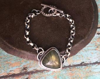 guidance. labradorite toggle bracelet