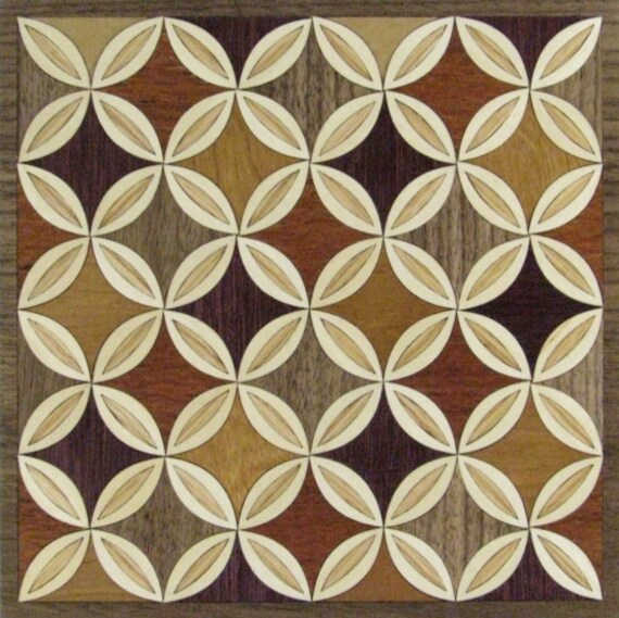 """8""""x 8"""" Marquetry Project Kit - Quilt 1"""