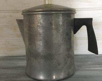 Camping Coffee Pot | Mirro Stove top Coffee Percolator | Vintage Coffee Percolator | Aluminum Coffee Percolator | Vintage Coffee Pot |