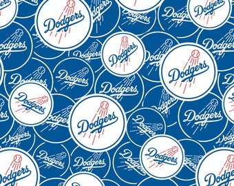Major League Baseball LA Dodgers cotton fabric by Fabric Traditions