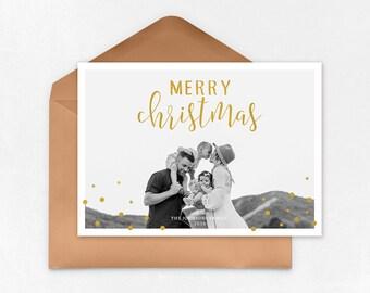 Christmas Card Template for photographers PSD Flat card- Photoshop templates - Christmas Card - PSD Template - 035