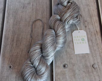 Oysters on the Bay colourway on Ginseng heavy lace weight, Pure mulberry Swiss silk yarn base, 100gms/600m, dto, dye to order