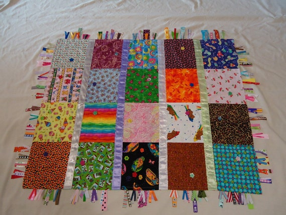 Ultimate I Spy Quilt Sensory Ribbon Tag Blanket Children S
