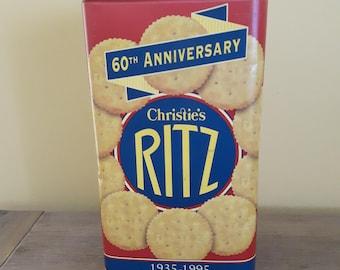 Ritz tin metal box 60th Anniversary