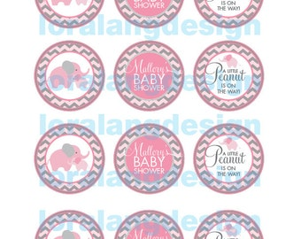 DIY Printable Little Peanut Baby Shower Cupcake Toppers