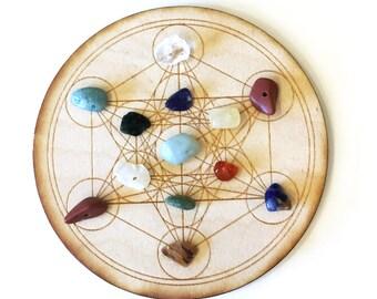 Metatron's Cube Grid, Crystal Grid, Meditation, Sacred Geometry