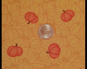 CLEARANCE Grand Finale for Moda Remnant/Scrap Fabric Piece- Fall Pumpkins on Light Orange Background