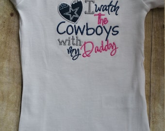 Dallas Cowboys with Daddy Baby Shirt or Bodysuit