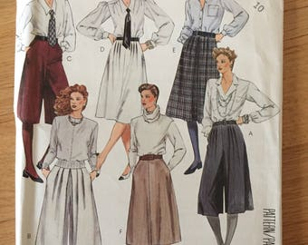Uncut 1980s McCall's 2058 Skirts and Cullotes  • size 10