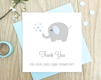 Personalised Baby Shower Thank You Cards - Baby Shower Thanks Cards - Blue, Pink, Lilac, Yellow