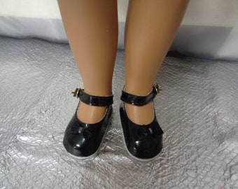 Black Patent Leather Doll Shoes-Shoes -Vintage Shoes for Sasha-64 mm = 2.51 inches  for Sasha and Magic Attic Club