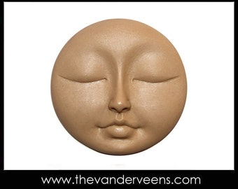 Mold No.122(Flater Full moon Face with closed eyes) by Veronica