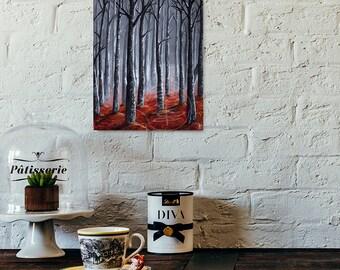 Tree Painting - Giclee Art Print  - Fall Scene