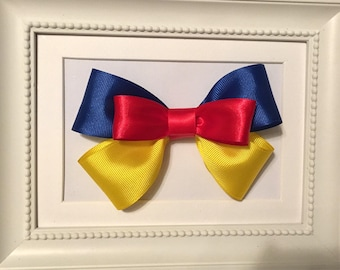 Snow White Princess Layered Bow