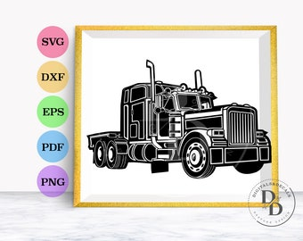 Truck SVG Files, Truck Cutting File, Truck Silhouette, Truck Clip Art Truck Clipart Cutting File, Silhouette File, Cricut File,