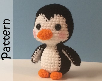 Pepin the Penguin Pattern Crochet Amigurumi PDF