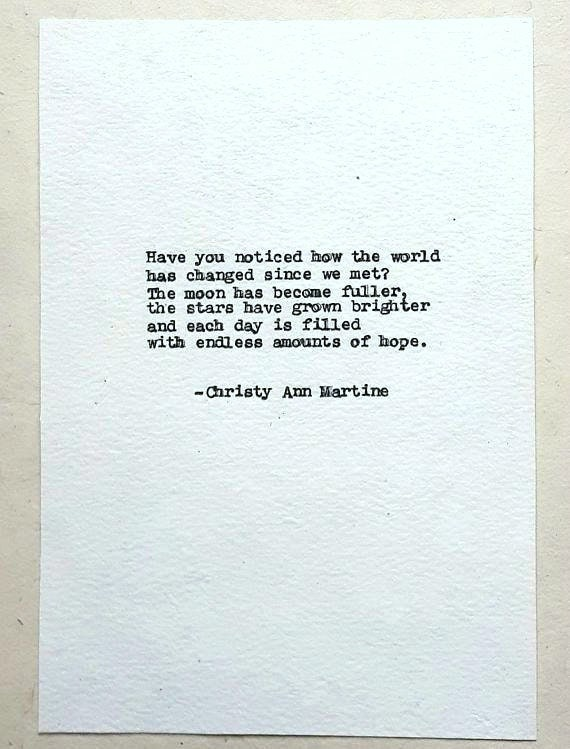 Love Decor - Romantic Sayings for Anniversary - Typed by Poet with Vintage Remington Typewriter