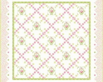 Guernsey Nottingham Classic & Soft Quilt Kit designed by Brenda Riddle Designs for Moda Fabrics