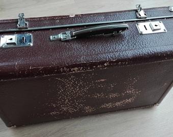 Suitcase, Vintage suitcase, bag, luggage, retro handbag, wedding card holder, old suitcase, old luggage, card box, vintage storage, Antique