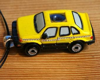 Yellow Cab Micro Machine Car Pendant