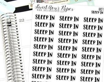 Sleep In Planner Stickers - Script Planner Stickers - Lettering Planner Stickers - Typography Stickers - Tired Planner Stickers - 1807