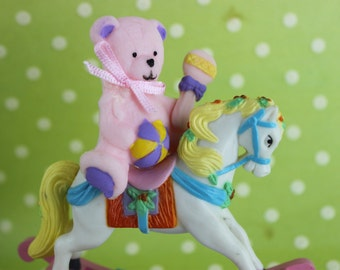Baby Girl Rocking Horse Shower Cake Topper Decoration
