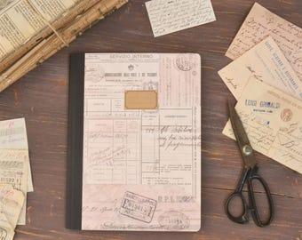 Kraft portable «post office»-des antiquités cartes, livre de recettes et notes