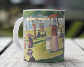 "Georges Seurat, ""A Sunday Afternoon..."". 11 oz Ceramic Coffee Mug."