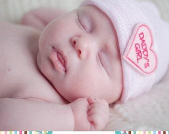 DADDY'S GIRL newborn hospital hat- daddy's girl- newborn hospital hat- newborn girl- newborn hat- baby girl- newborn girl take home outfit