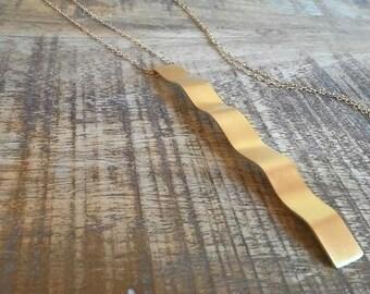 Long Pendant, Long Pendant Necklace, Long Gold Necklace, Long Dainty Necklace