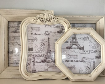 Old White, Cottage, Shabby Chic Collection, Picture Frames