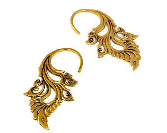 Tribal Earrings, Brass Earrings, Ethnic Earrings, Indian Earrings, Gold Earrings, Tribal Jewelry, Brass Jewelry, Indian Jewellery
