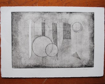 "Aquatint, Untitled 7.5X11""  Shape Series 1.1"
