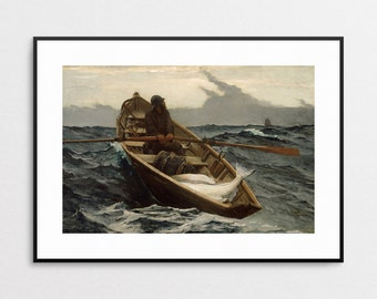 WInslow Homer - The Fog Warning - Beach House Decor -  Beach House Wall Art - Nautical Decor - Nautical Art Print - Fisherman - Ocean Art