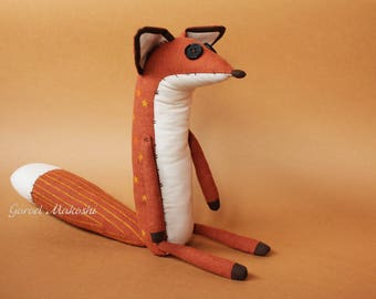 25 cm The  LITTLE PRINCE FOX - sale - 41 usd not 51 - original plush little toy - The serie Prince