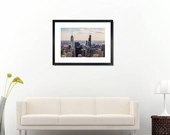 Chicago skyscrapers from the top on high quality photo print, fine art, wall decor, 8x12, 12x18, 20x30, 28x40, Free shipping