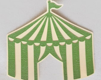 Circus Tent Cut Outs - Circus Theme Party Die Cuts - Circus Centerpieces - 12 Carnival Tents - Scrapbooking