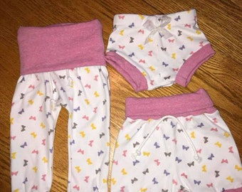 Butterfly Harem Pants/Leggings/Bloomers/Shorties for infants/toddlers/kids