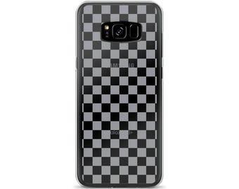 Grey Checkerboard Pattern Samsung Case
