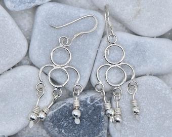 Sterling Silver Bead Earring Dangle Drops