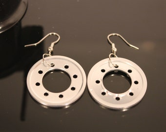Electronic Parts Earrings - Recycled Jewelry - Tech Gift - Unique gift for Her - Geeky Earrings - Upcycled Computer Jewelry
