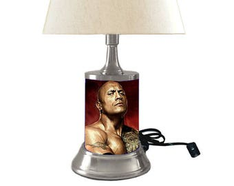 The Rock Lamp with shade
