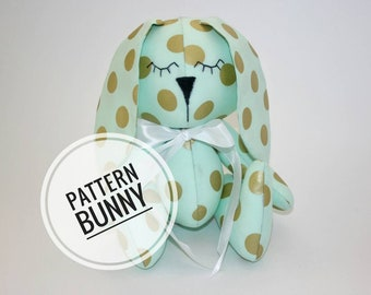 PATTERN ONLY to make a stuffed animal bunny rabbit hare